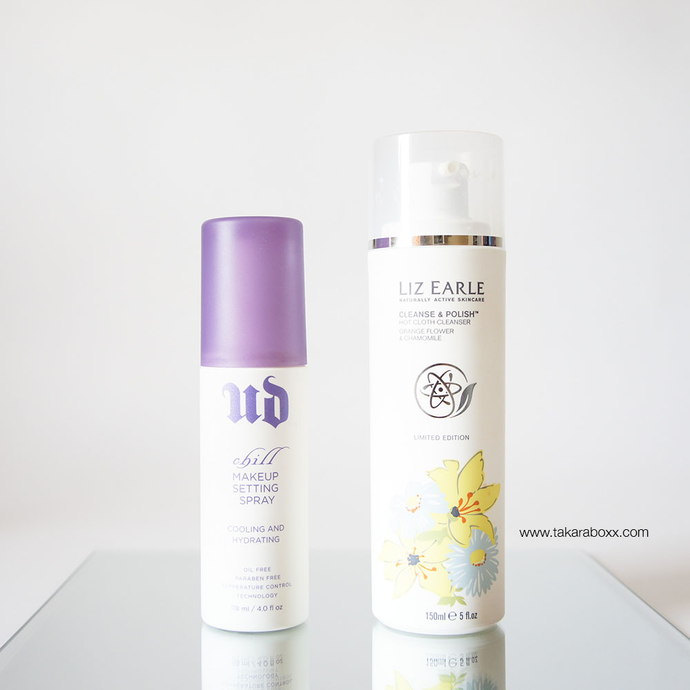 Urban Decay Chill Setting Spray and Liz Earle Cleanse & Polish