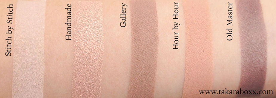 ZOEVA En Taupe Swatches Top Row