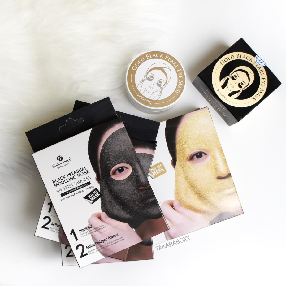 "Peach & Lily Korean Beauty Ordering Review (Shangpree Gold / Black Premium Modeling ""Rubber"" Masks & Gold Black Pearl Eye Mask)"
