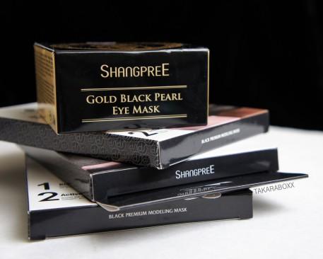 Shangpree Gold Black Pearl Eye Mask & Black
