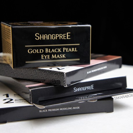 Shangpree Gold Black Pearl Eye Mask & Black
