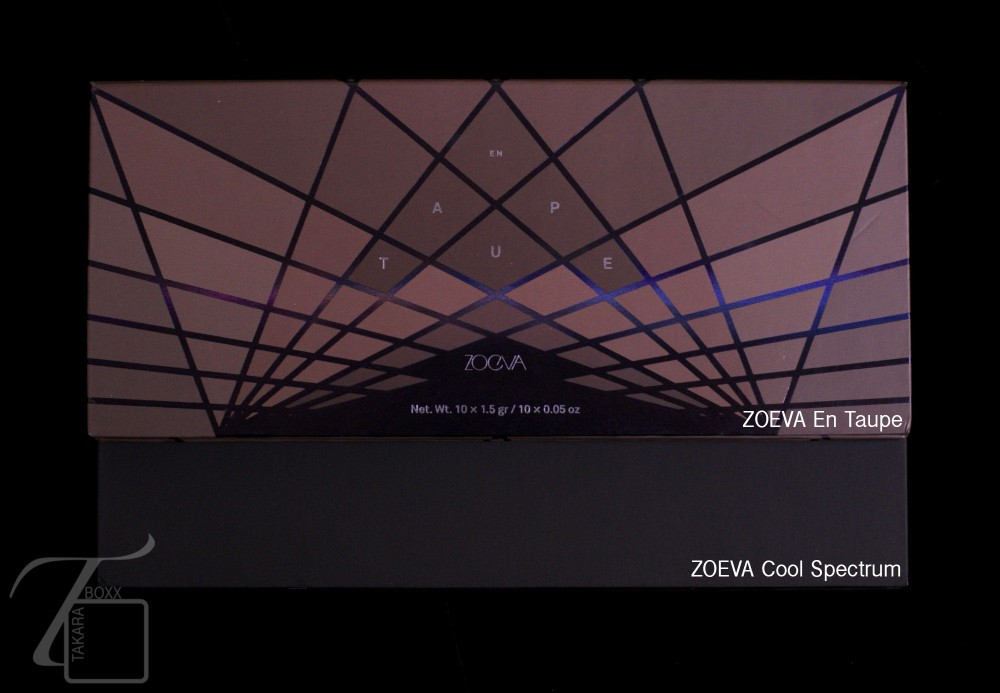 ZOEVA En Taupe & ZOEVA Cool Spectrum Eyeshadow Palette Size Comparison