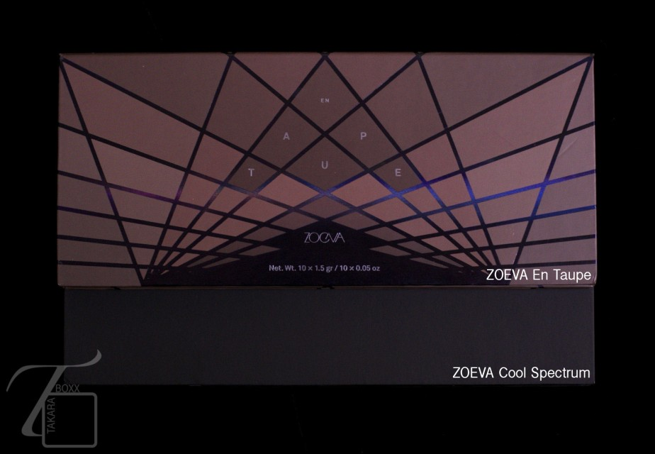 ZOEVA En Taupe & ZOEVA Cool Spectrum Eyeshadow Palette Size Comparison
