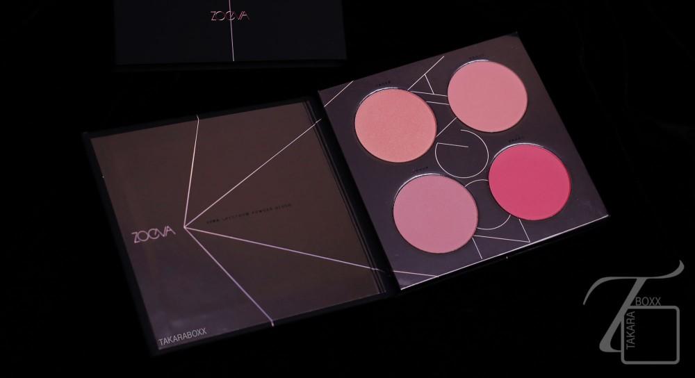 ZOEVA Pink Spectrum Blush Palette (Open)