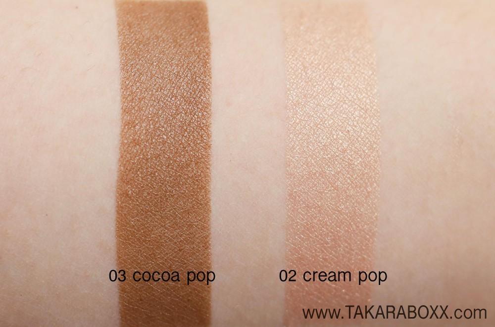 CLINIQUE Lid Pop Arm Swatches (03 Cocoa Pop & 02 Cream Pop)
