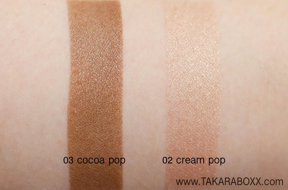 CLINIQUE Lid Pop Arm Swatches (03 Cocoa Pop & 02 Cream Pop)
