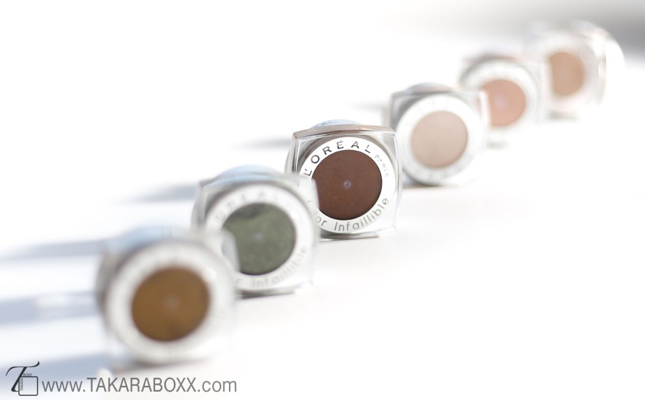 L'Oréal Infallible Eyeshadow Swatches & Review