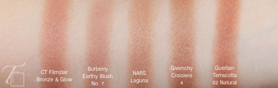 Guerlain Terracotta Natural 02 Comparison Swatches