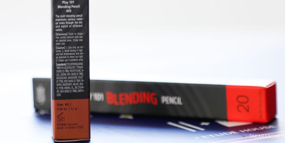 Etude House Play 101 Blending Pencil Ingredients