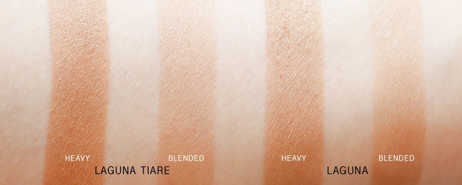 NARS Laguna Tiare / Laguna Swatches (in indirect sunlight)
