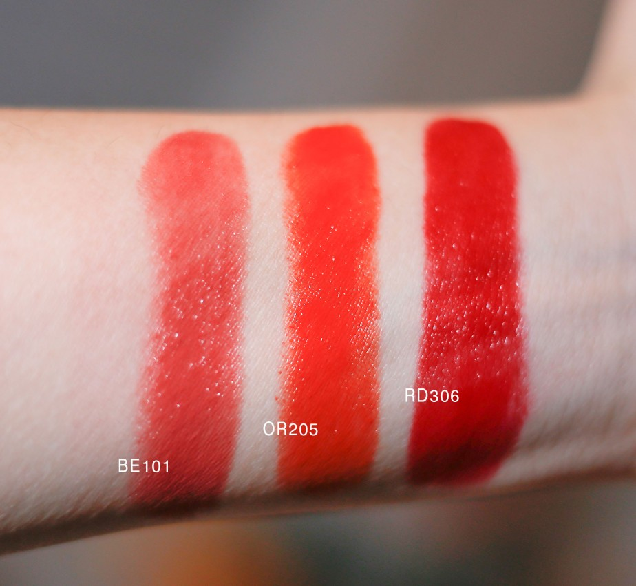 Etude House Dear My Enamel Lips-talk Arm Swatches (Flash)