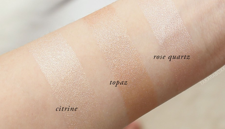 Jouer Cream & Powder Highlighter Swatches