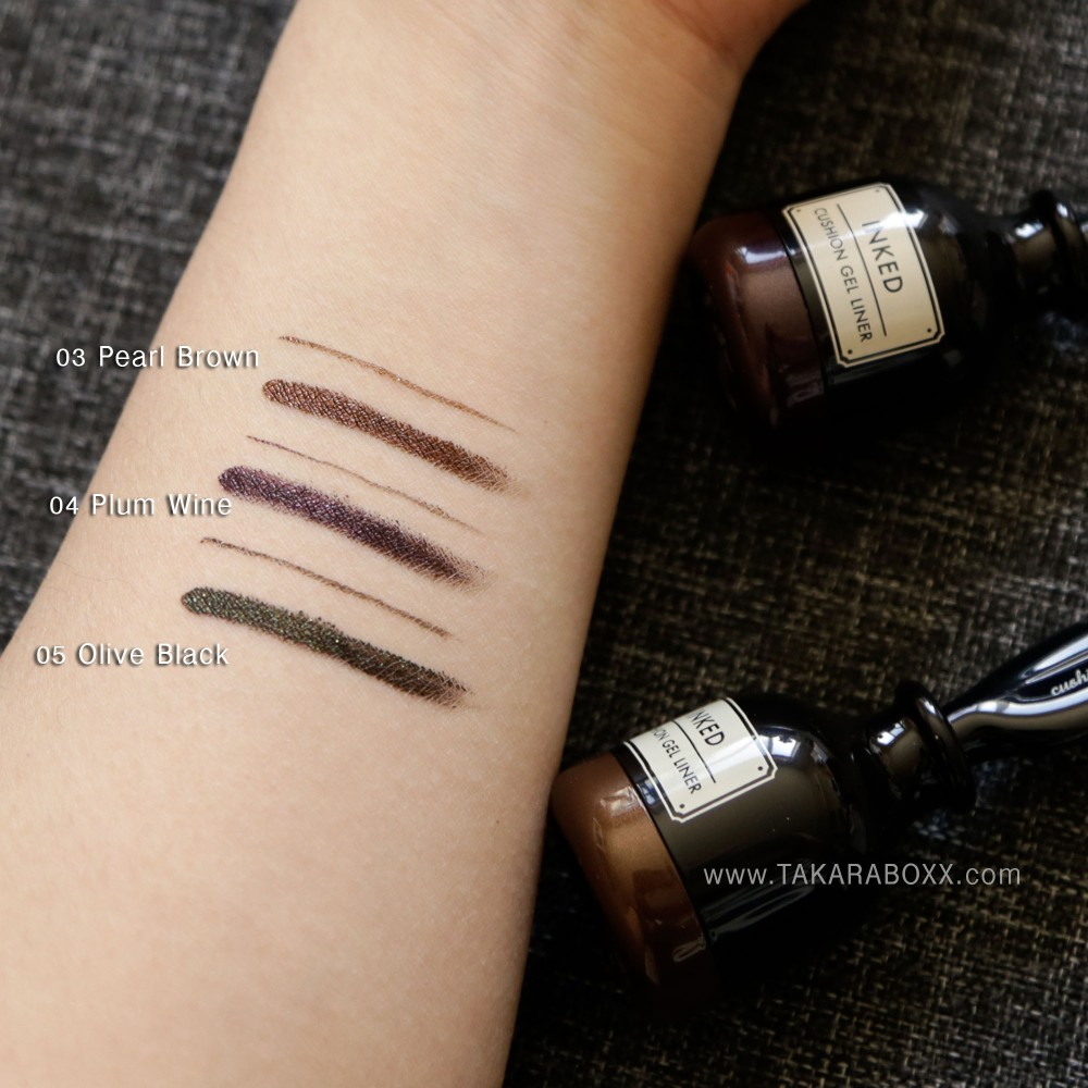 TONYMOLY Inked Cushion Gel Liner Swatches
