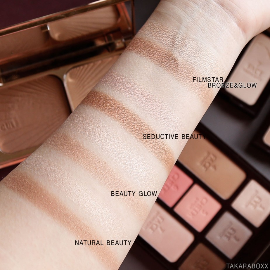CharlotteTilbury Instant Look in a Palette Bronzer Highlight Swatches