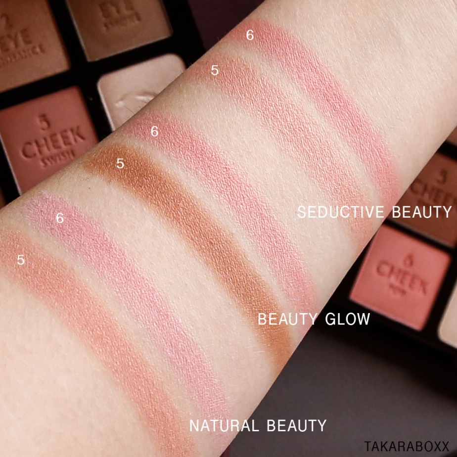 CharlotteTilbury Instant Look in a Palette Blush (Swish & Pop) Swatches